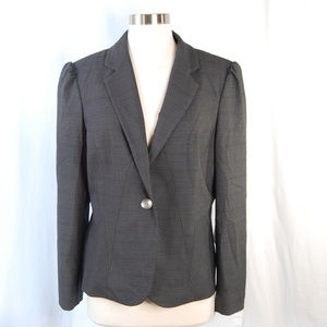 {Kenneth Cole} Gray Singe Button Carrer Blazer 12